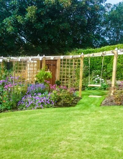 arbor-and-swing-and-plants